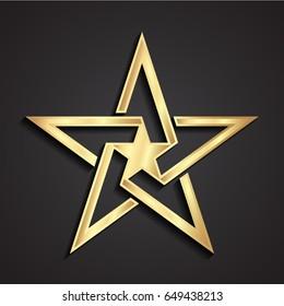 3d modern style star shape symbol