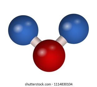 The 3D molecule of carbon dioxide. CO2 formula. Vector illustration. Chemical element.