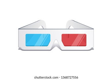 3d movie glasses isolated on white background. - Vector