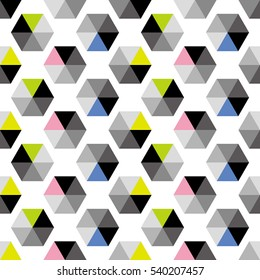 3d object image,color tile - Geometric seamless pattern