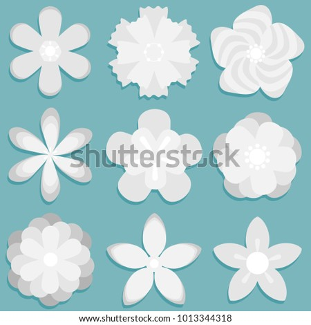 3 d origami abstract flower paper flowers stock vector royalty free 3d origami abstract flower paper flowers set flat design vector mightylinksfo