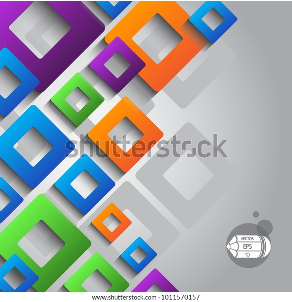 3d Paper Abstract Colored Background Geometric Stock Vector