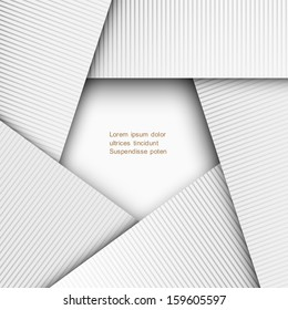 3d paper geometric background. Vector EPS10