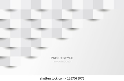 3D paper style background. Vector EPS 10.