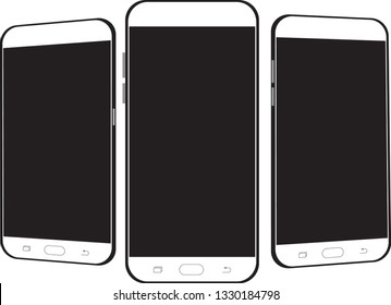 3D Phone Screen Mock-Up Vector