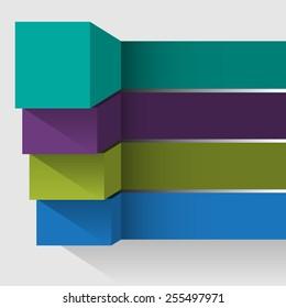 3d pillars of growth data element infographic blank template