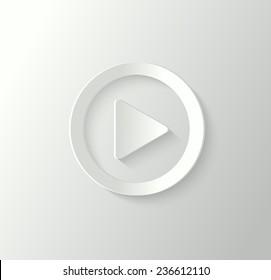 3d play button
