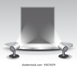3d podium with light,vector illustration
