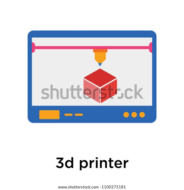 3d Printer Icon Vector Isolated On Stock Vector (Royalty Free