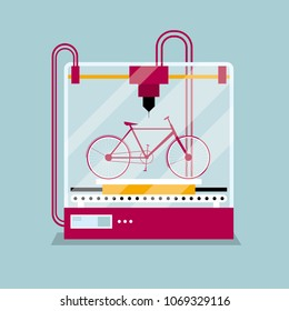 3D printing a bike model, the concept of rapid prototyping.