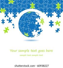 3d puzzle globe design