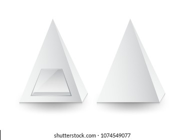 3d pyramid package, box, product design,Vector illustration.