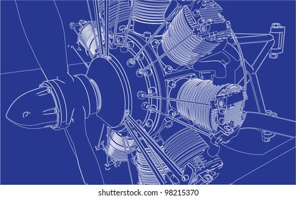 Radial Engine Images, Stock Photos & Vectors | Shutterstock