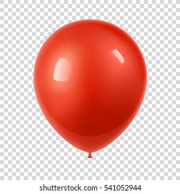 3d Realistic Colorful Balloon. Holiday illustration of flying glossy balloon. Isolated on white Background. Vector Illustration