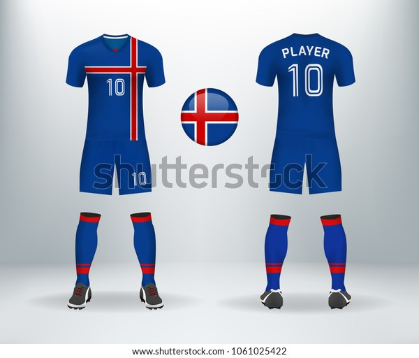 reputable site 38b15 78ab7 3d Realistic Font Back Iceland Soccer Stock Vector (Royalty ...