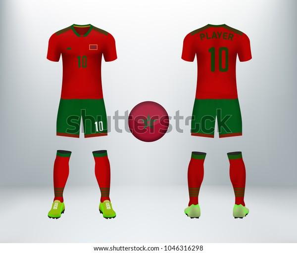 half off ea38d 0dc0e 3d Realistic Font Back Morocco Soccer Stock Vector (Royalty ...