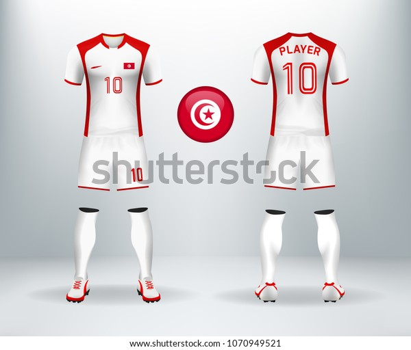 huge selection of cbffc 73c61 3d Realistic Font Back Tunisia Soccer Stock Vector (Royalty ...