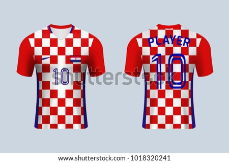 3D realistic of front and back view of soccer jersey shirt on shop  backdrop. Concept fd3e6aee5