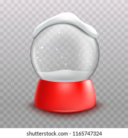 3d realistic snow ball. decoration for new year.vector illustration