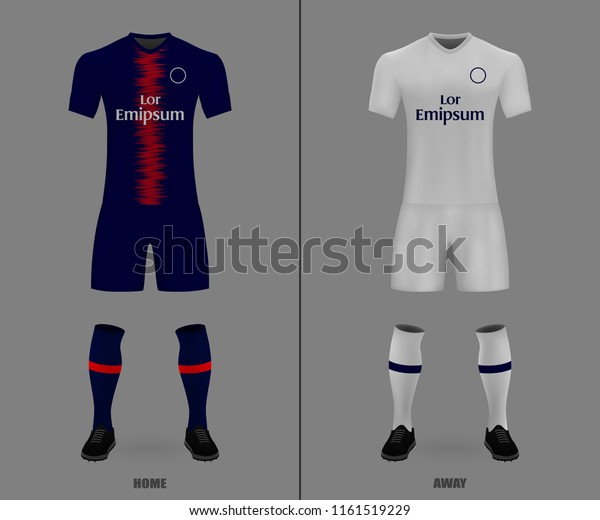 reputable site a1f0f 58a7c 3d Realistic Template Soccer Jersey Psg Stock Vector ...