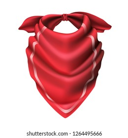 3d realistic vector cowboy red scarf.