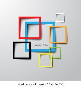 3d rectangle design template