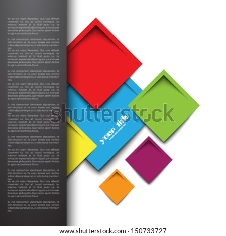 3 d rectangle design template stock vector royalty free 150733727