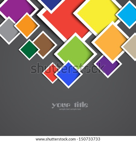 3 d rectangle design template stock vector royalty free 150733733