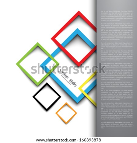 3 d rectangle design template stock vector royalty free 160893878