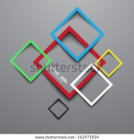3 d rectangle design template stock vector royalty free 162971834