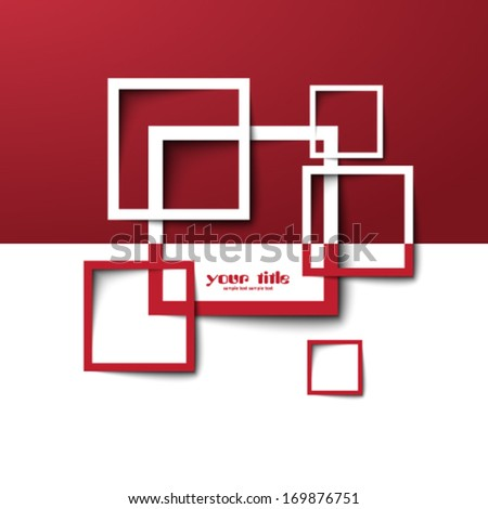 3 d rectangle design template stock vector royalty free 169876751
