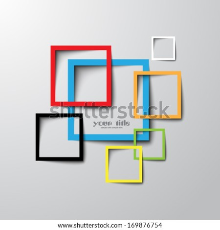 3 d rectangle design template stock vector royalty free 169876754