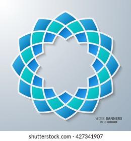 3D round symmetrical Islamic arabesque design