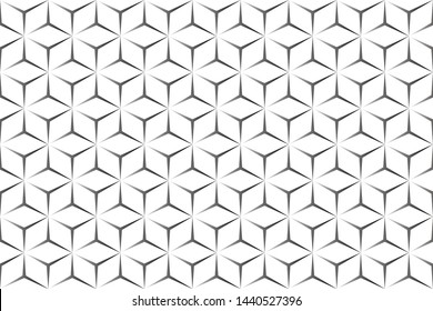 3d seamless geometric pattern. black and white cube background, vector, illustration