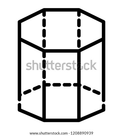3 D Shape Design Hexagonal Prism Stock Vector Royalty Free