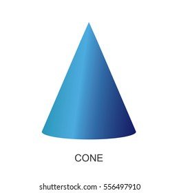 3d shape-cone vector