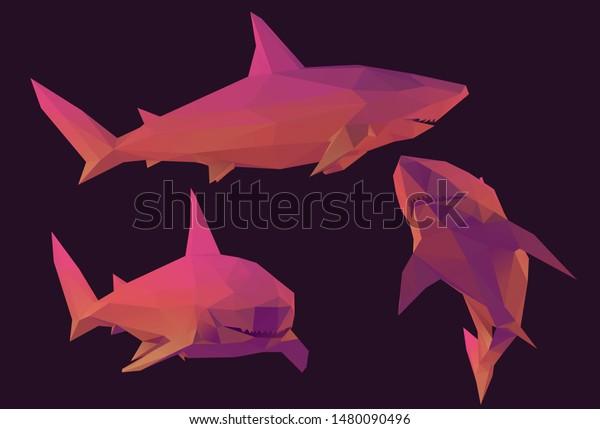 3d origami art : origami shark instructions   429x600