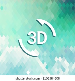 3d sign icon