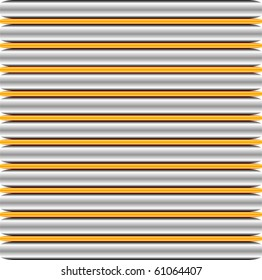 3D Silver and gold gel lines background illustration vector