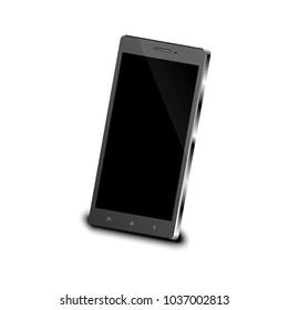 3D Smart phone Black.
