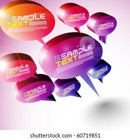 3D Speech Bubbles Design