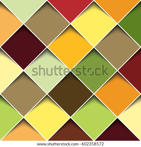 3 d square design template stock vector royalty free 602358572
