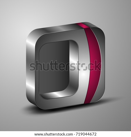 3 d square template stock vector royalty free 719044672 shutterstock