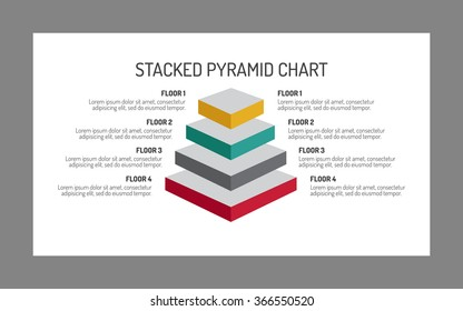3d stacked pyramid chart. Four-level pyramid chart. Pyramid chart infographic. Pyramid chart infographic art. Stacked pyramid chart infographic web. 3d pyramid chart infographic image.