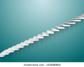 3d staircase vector wall ladder. Abstract wall stair interior design steps element success.
