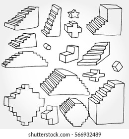 3D Stairs Elements