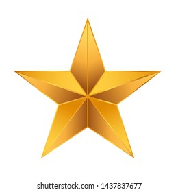 3d star gradient icon isolated on white background.
