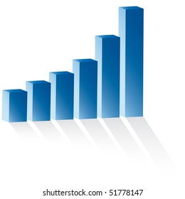3d statistic buiness chart vector