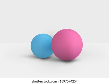 3D Studio Scene with Spheres, Realistic Display Circle Shape Form with Shadow. Vector Illustration/Visualization/Render of 3d Graphic Design – Vector