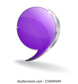 3d Talk Balloon Vector Icon